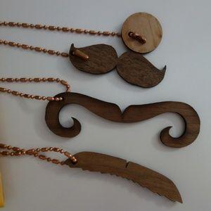 Moving Sale! Geek Chic Mustache Necklace Set